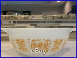 Rare Pyrex Orange Gold Amish Butterprint 443 Cinderella Bowl 2-1/2 Qt. Vintage