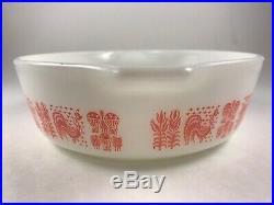 Rare Pyrex Pink Amish Butterprint 471 1 pt Casserole Baking Dish no lid