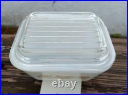 Rare Pyrex Sandalwood 501 Refrigerator Dish with lid. A