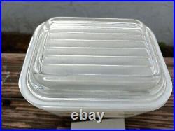 Rare Pyrex Sandalwood 501 Refrigerator Dish with lid. B