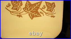 Rare Pyrex sandalwood fridgie 501 with lid #1