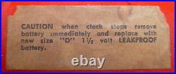 Rare Red/Black Howard Miller Meridian Clock 7589 Alvino Bagni George Nelson MCM