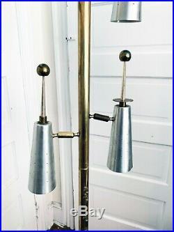 Rare STIFFEL MID-CENTURY MODERN ATOMIC FUTURA POLE LAMP By Raymond Loewy MCM