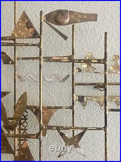 Rare Signed William Bowie Mid Century Modern Brutalist Hanging Sculpture WOW
