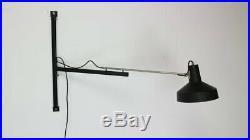 Rare Telescopic Dutch Wall Lamp by Hiemstra Evolux 1950, s mouille sarfatti era