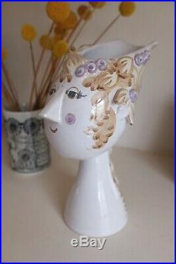 Rare! Titania Face Head Figural Vase BY BJORN WIINBLAD Midcentury 1976