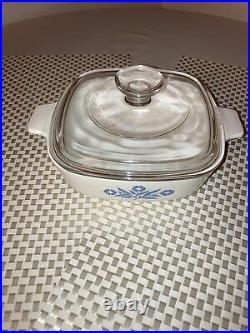 Rare Vintage Blue Cornflower Corning Ware Casserole Dish 1Qt