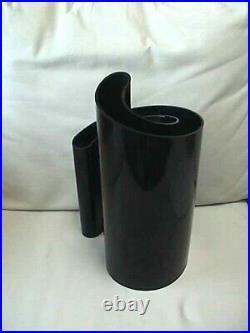 Rare Vintage Heller Giotto Stoppino Deda Black Plastic Vase Mid Century Modern