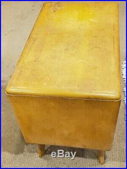 Rare Vintage Heywood Wakefield Small Mid Century Record Cabinet Stand