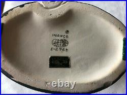 Rare Vintage INARCO Lady Head Vase Mitzi Gaynor E-2968 Green Eyes