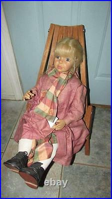 Rare Vintage MID Century Danish Modern Slat Folding Chair Child Size