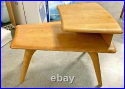 Rare Vintage MID Century Heywood Wakefield Birch Step End Table / Side Table