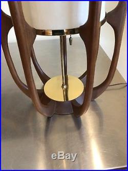Rare Vintage Modeline Pearsall Kagan Walnut MID Century Large Sculpture Lamp