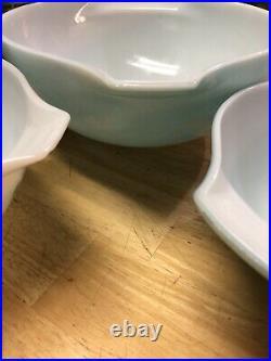 Rare Vintage Pyrex Gooseberry JAJ Duck egg blue Mixing Bowls