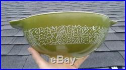 Rare Vintage Pyrex Green Woodland 444 Cinderella Mixing Bowl HTF