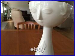 Rare Vintage signed Bjorn Wiinblad Rosenthal Studio Linie White Porcelain Vase