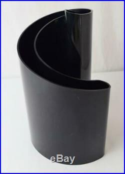 Rare Vtg MCM 1972 Giotto Stoppino Deda Vase Black Heller Designs Italy Style 403