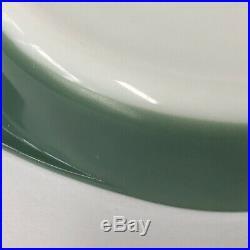 Rare Vtg Pyrex Glass Promo Heinz Green 024 Cake Pan Baking Casserole Dish #221