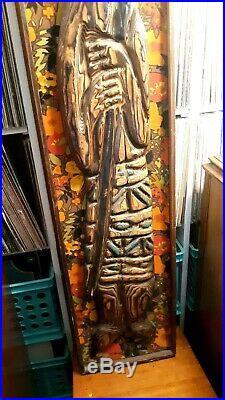 Rare Witco Wall Art Tiki Tahitian Polynesian Large 5 Ft Pearsall Eames 1960s