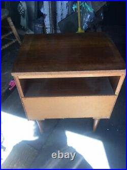 Rare mid century modern Night Stand For Restoration For Your Bedroom Set Rare