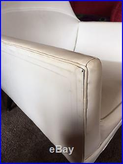 Rare mid century modern Paul McCobb vinyl Squirm lounge chair Eames angular club