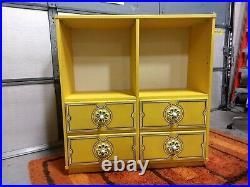 Retro Vintage Space Age Flower Power Drexel Plus One Cabinet RARE