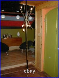 Sputnik Floor Lamp Mid Century Modern Rare Tension Pole light