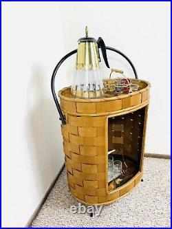 Stunning Original 60s Tiki Bar Stand Mid Century Vintage Dry Bar Rare