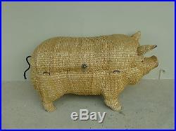 Super Rare Monumental MID Century Mario Lopez Torres Sculptural Pig Trunk W LID