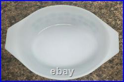 Super Rare Vintage Pyrex New Mexico Blue/White Casserole Dish
