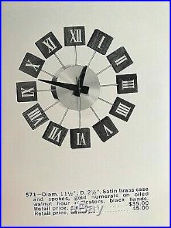 Super rare! George Nelson HOWARD MILLER clock eames girard noguchi era