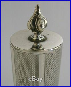 Superb Rare English Solid Sterling Silver Candle Stick Box 1961