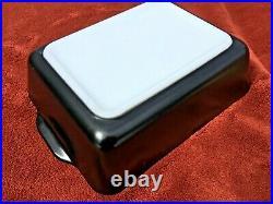 USA Vintage Pyrex #503 Rodney Kent Starline Black Brass Lid Mid Century Mod RARE