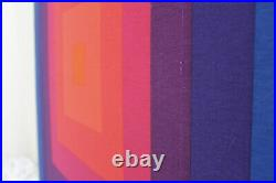 Ultra Rare Verner Panton Fabric Wall Hanging Mira-X 1968-72 Mid Century Modern