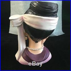VERY RARE! 5.75 COSTUME LADY INARCO E-1611 LADY HEAD VASE Ex. Cond. 1964