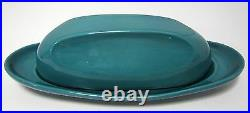 VHTF Vintage Russel Wright Iroquois Casual Turquoise Butter Dish VGUC Ex. RARE