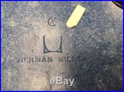 VINTAGE Herman miller eames fiberglass side chair cerulean blue RARE SET OF 4
