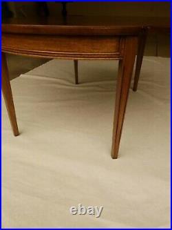 VINTAGE Round Drop Leaf Wood Coffee Table MCM Mid Century Modern RARE Pick Up