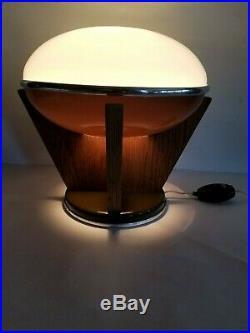 VTG MCM Mid Century Modern Table Lamp Light Ovni Space Atomic Flying Saucer Rare