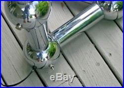 VTG Mid Century Modern Chrome Eyeball Ball Table Floor Lamp Attrib Sonneman Rare