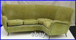 Very Rare Italian Mid Century Modern I. S. A Corner Sofa C1955
