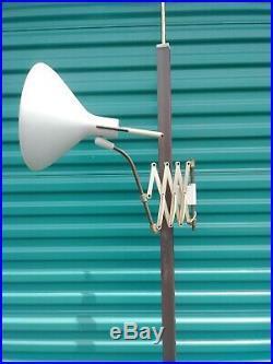 Very Rare Mid Century Lightolier Gerald Thurston Tension Pole Scissor Lamp