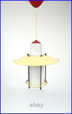 Very Rare Stunning Original 50s MID Century Hanging Ceiling Lamp Pendant