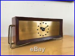 Vintage 1950s Jefferson Contemporaire Clock MID Century Modern Nelson Style Rare