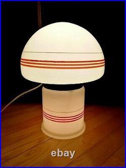 Vintage BIG Soviet Space Age Glass Desk/Floor Lamp Mushroom Two Modes. Super Rare