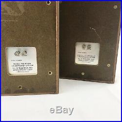 Vintage KLH Model 14 Stereo Speakers Pair Mid Century Modern MCM Original Rare
