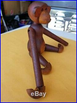 Vintage Kay Bojesen Danish Teak MID CENTURY MODERN Monkey RARE ORIGINAL MCM