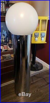 Vintage Mid Century Modern Chrome Bulb Floor Lamp Rare