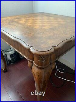 Vintage Mid-Century Weiman Dining Table- Chess Board Top Inlay Maple RARE