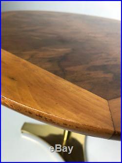 Vintage Milo Baughman Arch Gordon Rare Round Pedestal End Side Table Mid Century